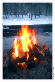 Lapland - Fireplace