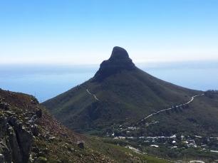 Lion's Head vu de la Table Mountain